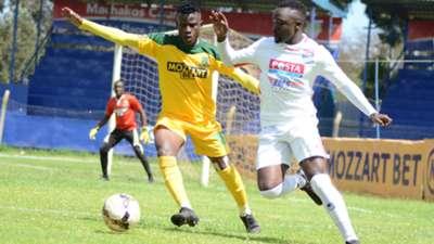 Mathare United vs Posta Rangers in a KPL match.