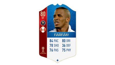 FIFA 18 World Cup CONMEBOL Ratings Farfan
