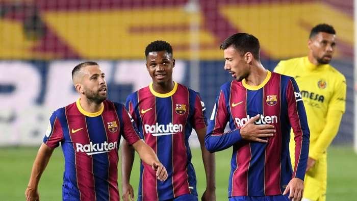 Ansu Fati Jordi Alba Sergio Busquets Barcelona Villarreal 2020-21