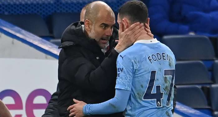 Pep Guardiola Phil Foden Manchester City 2020-21