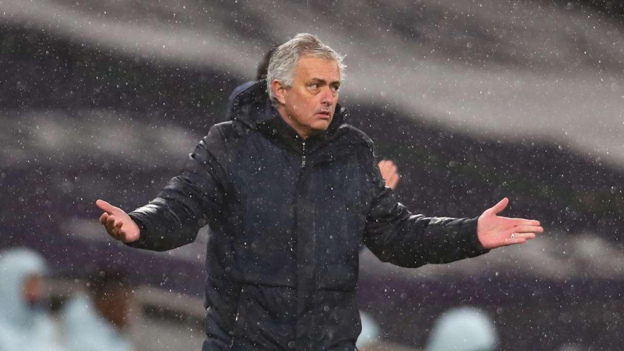 Mourinho Tottenham shrug 2021