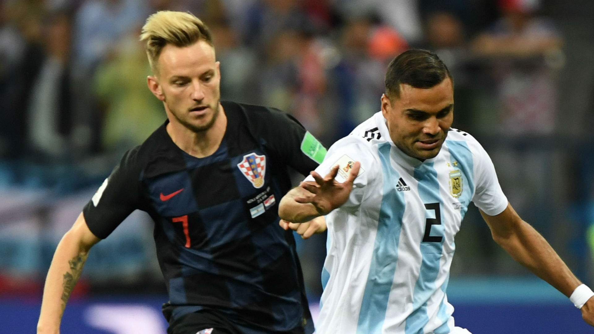 Ivan Rakitic Croatia Gabriel Mercado Argentina World Cup 2018