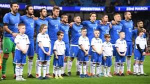 Argentina-Italia, l'omaggio ad Astori