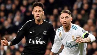 Sergio Ramos Neymar Real Madrid PSG