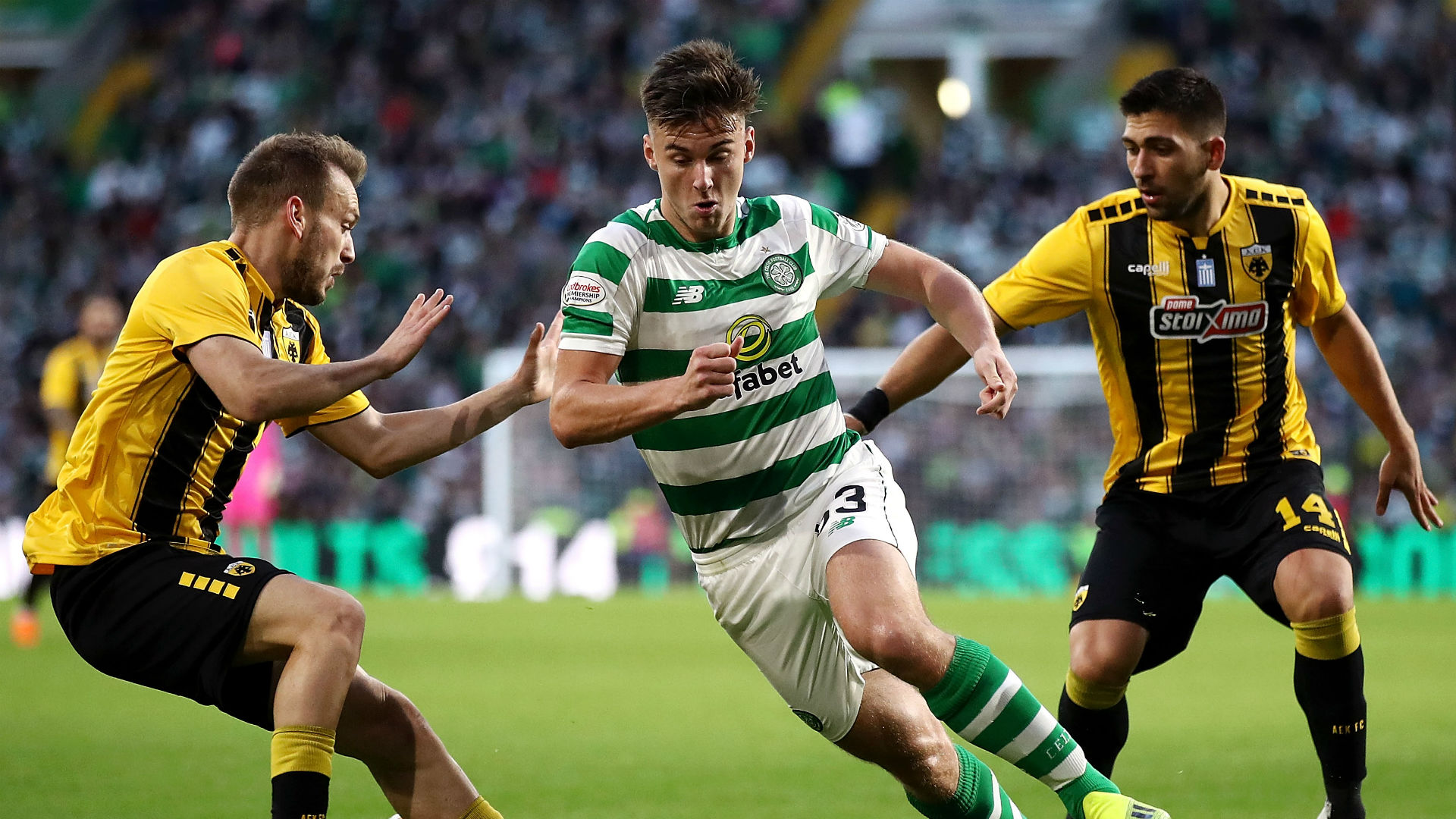 Kieran Tierney Celtic AEK Athens