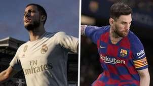 Eden Hazard FIFA 20 Lionel Messi PES 2020