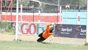 Tusker's Duncan Ochieng' concede goal against Nzoia Sugar