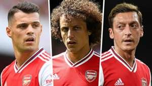Granit Xhaka Mesut Ozil David Luiz Arsenal 2019-20