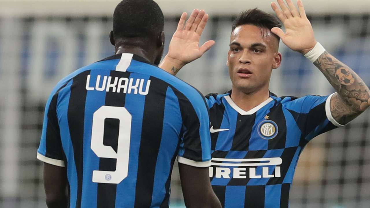 Lukaku Lautaro Martinez Inter Juventus Serie A