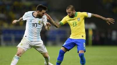 Lionel Messi Daniel Alves Argentina Brazil 07092019