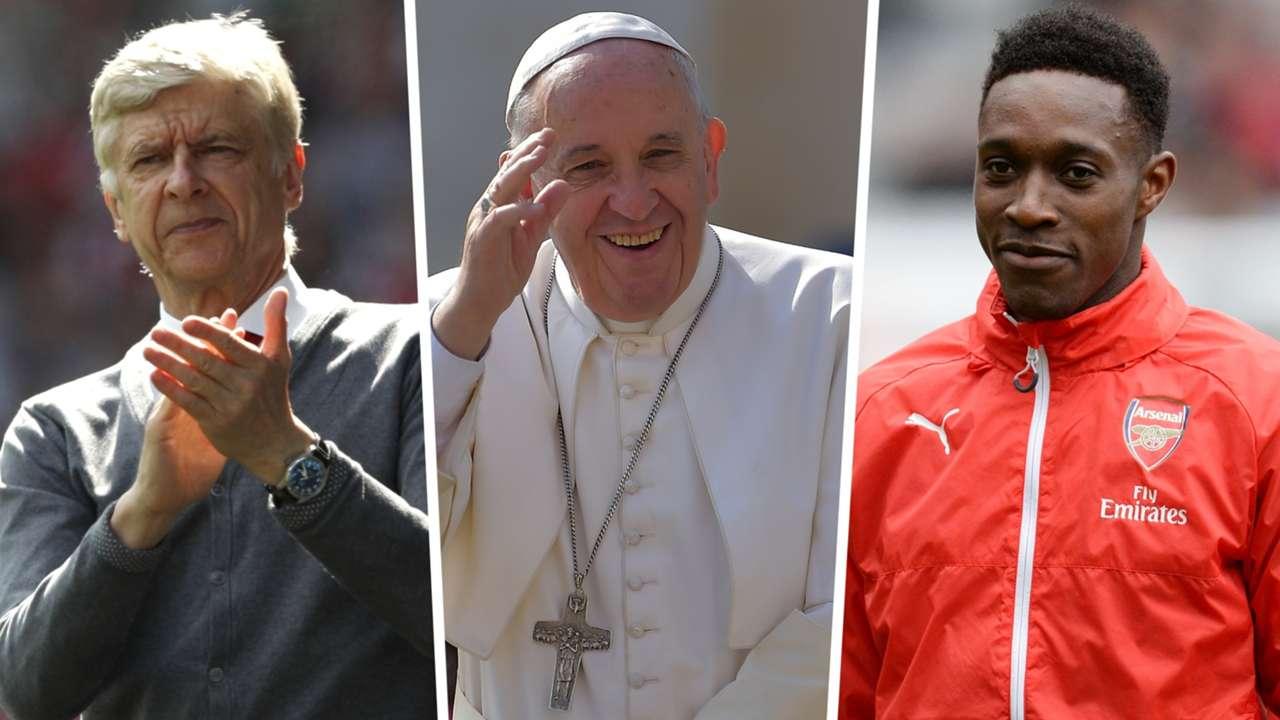 Arsene Wenger Pope Danny Welbeck