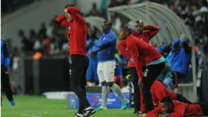 Micho Sredojevic and Orlando Pirates players in disbelief