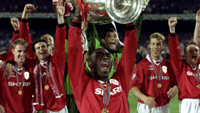 Manchester United Andy Cole Champions League 1999