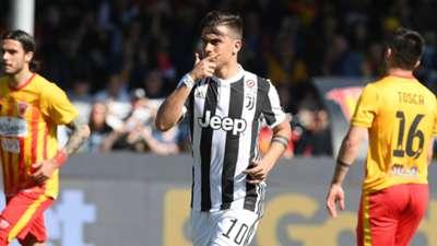 Paulo Dybala celebrating Benevento Juventus Serie A