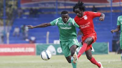 TOBIAAS OTIENO of Gor Mahia v William WADRI of Bandari FC.