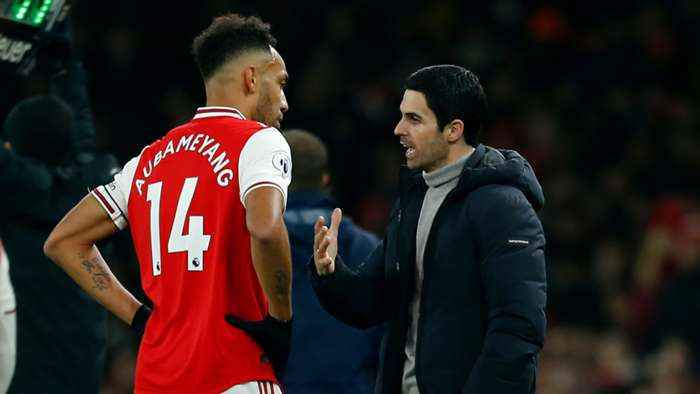 Mikel Arteta/ Pierre-Emerick Aubameyang Arsenal 2019-20