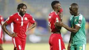 Philemon Otieno Johanna Omollo of Kenya and Harambee Stars v Senegal.