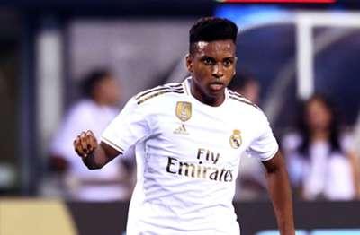 Rodrygo em ação pelo Real Madrid