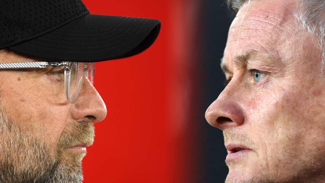 Jurgen Klopp Ole Gunnar Solskjaer Liverpool Man Utd 2020-21
