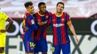 Philippe Coutinho, Ansu Fati, Lionel Messi Barcelona Villarreal LaLiga 2020