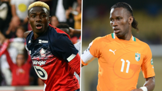 Victor Osimhen Didier Drogba