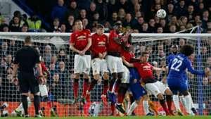 Willian Chelsea Manchester United free kick