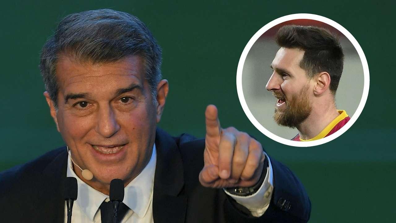 Joan Laporta, Lionel Messi, Barcelona