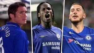 Frank Lampard Didier Drogba Eden Hazard Chelsea