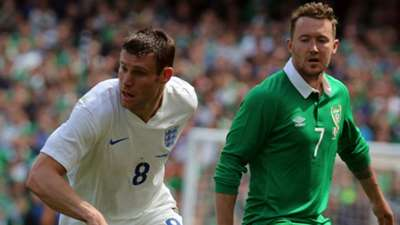James Milner England Aiden McGeady Republic of Ireland 2015