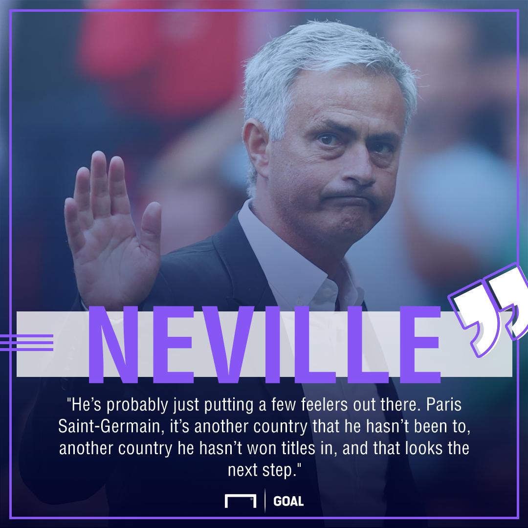 Jose Mourinho Paris Saint-Germain Phil Neville next step