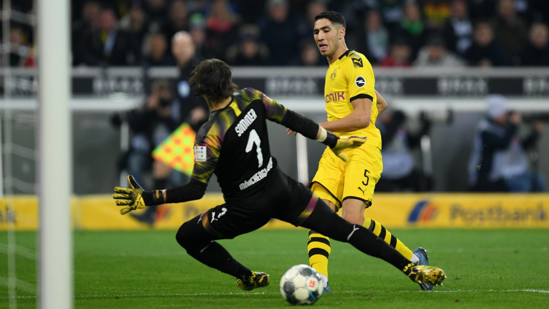 Achraf Hakimi - Borussia Monchengladbach vs Borussia Dortmund - 2019-20