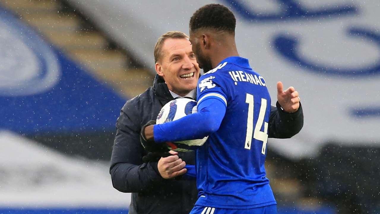 Kelechi Iheanacho Brendan Rodgers Leicester