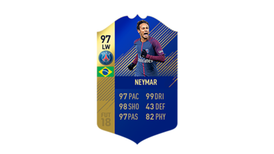 FIFA 18 Ligue 1 Team of the Season Neymar