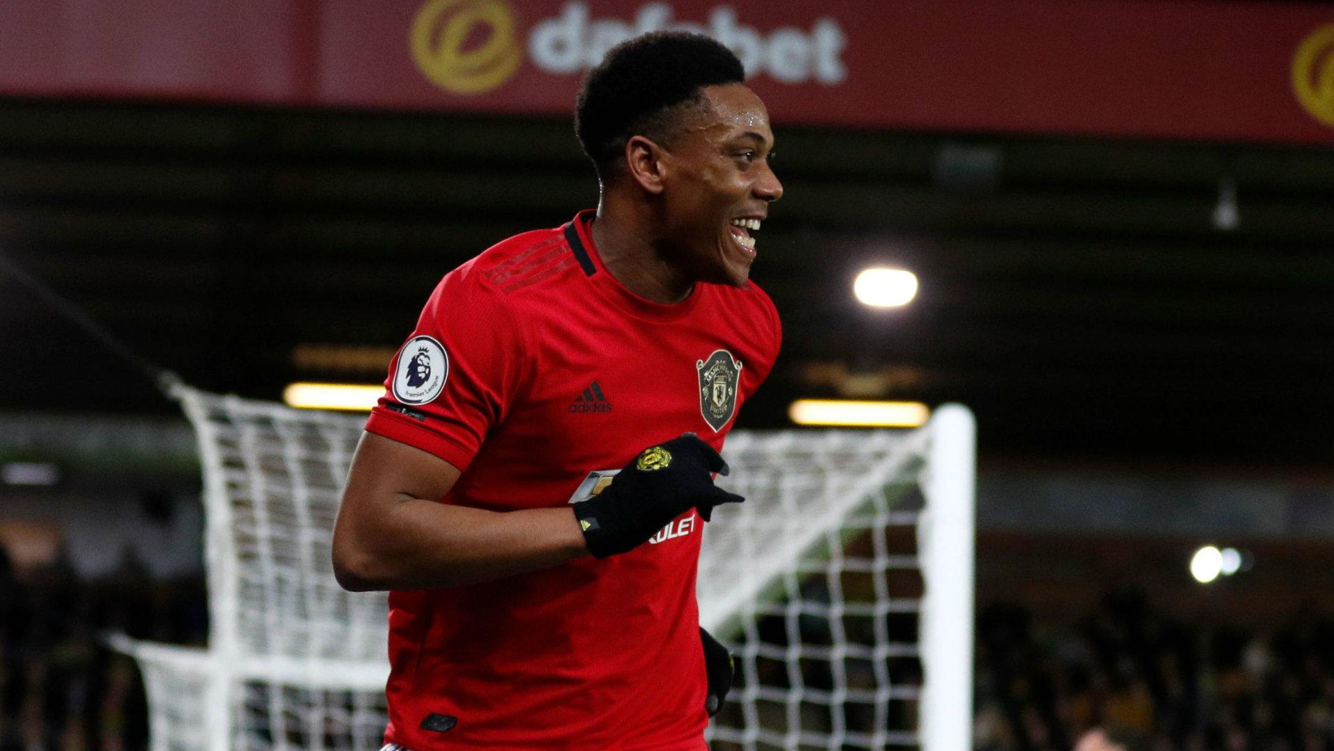 Anthony Martial Norwich vs Man Utd 2019-20