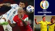 argentina chile y colombia en la fase de grupos copa américa 2021