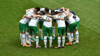 Republic of Ireland huddle v Belgium 18062016