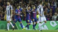 Barcelona celebrating vs Juventus Champions League