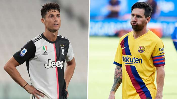 Cristiano Ronaldo Juventus Lionel Messi Barcelona GFX