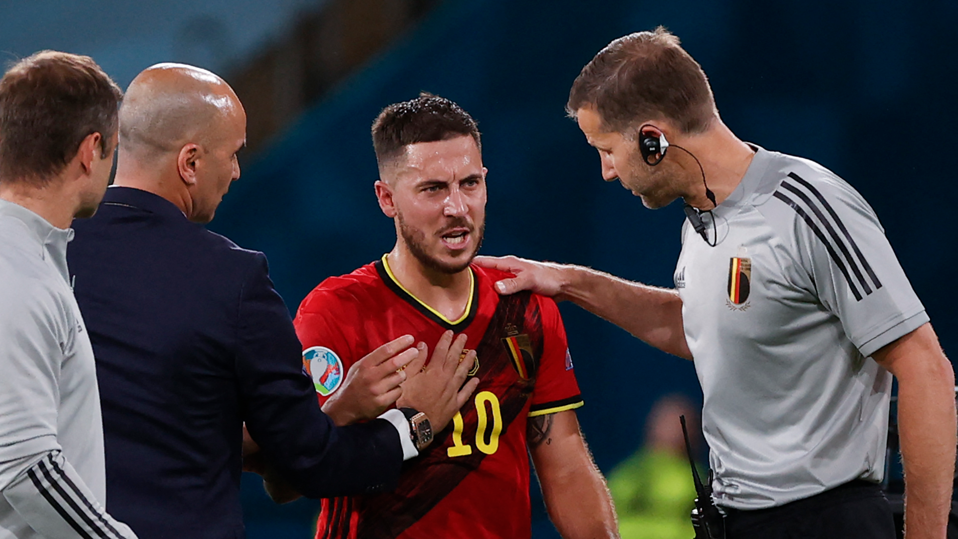 Hazard vows to stay with Belgium team after suffering hamstring injury in win over Portugal