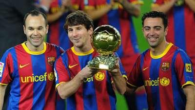 Iniesta Messi Xavi Barcelona