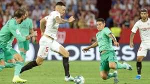 Lucas Ocampos James Rodriguez Sevilla vs Real Madrid 2019-20