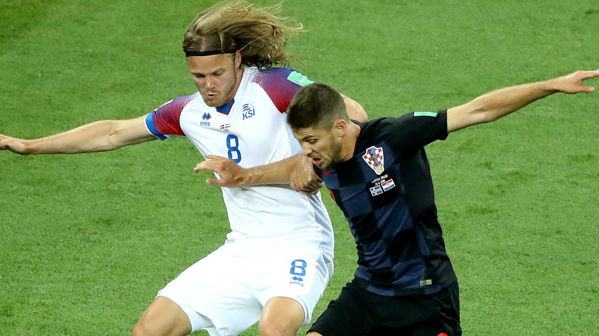 Andrej Kramaric Croatia Birkir Bjarnason Iceland World Cup