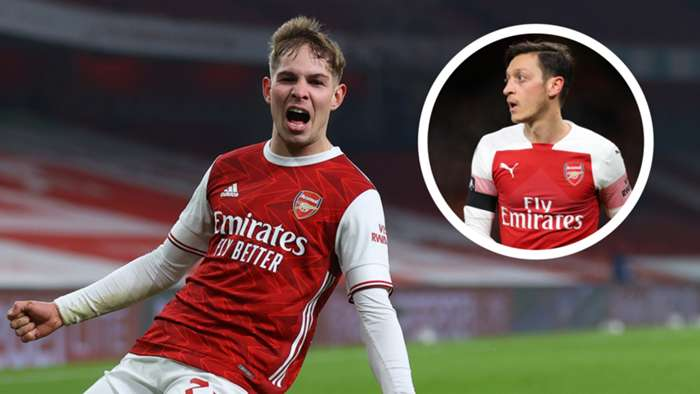 Emile Smith Rowe Mesut Ozil