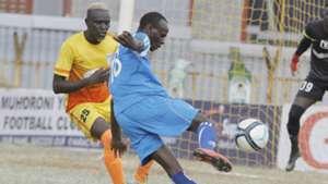 Ezekiel Okare of Sofapaka v Muhoroni Youth.