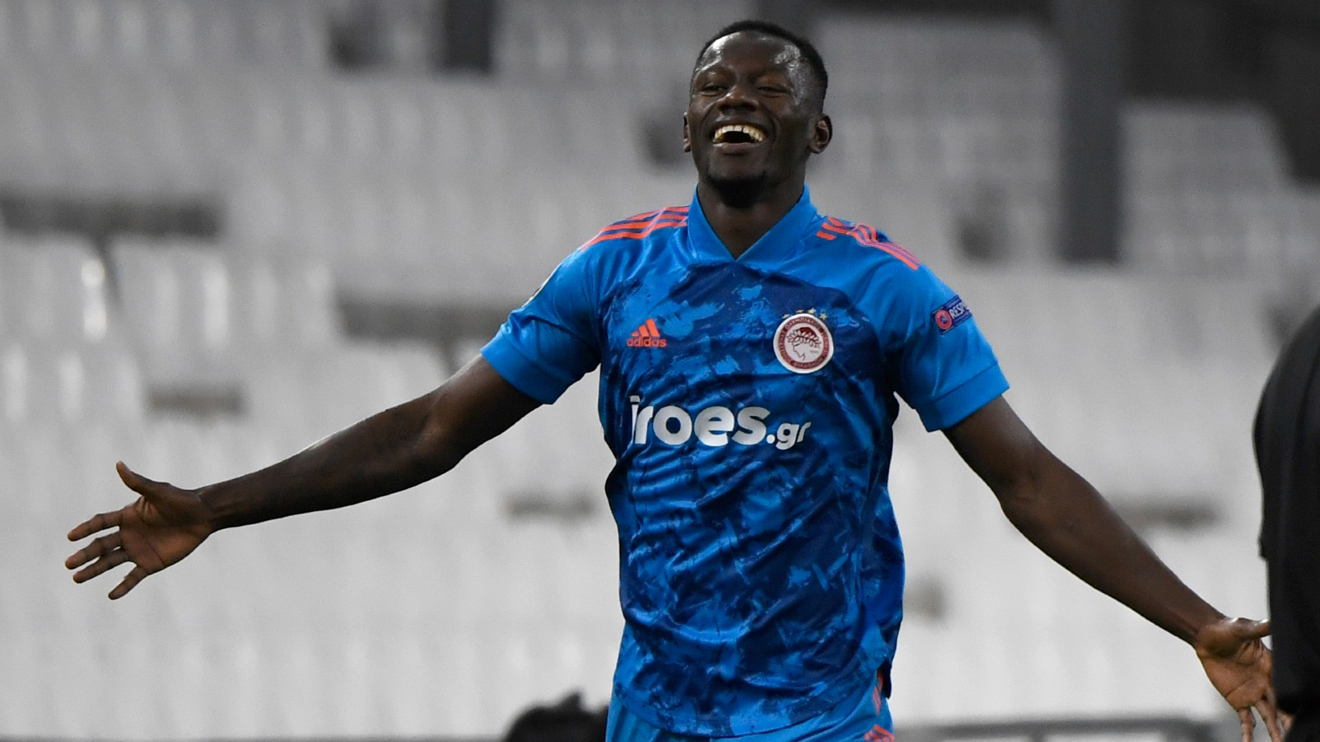Mohamed Camara scores and gets sent off in Olympiakos' Champions League qualifiers win
