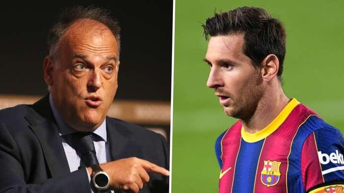 Javier Tebas Lionel Messi