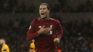 van Dijk Liverpool Wolves 2018