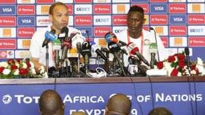 Victor Wanyama and Sebastien Migne of Harambee Stars.