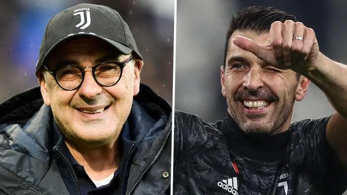 Maurizio Sarri Gianluigi Buffon Juventus