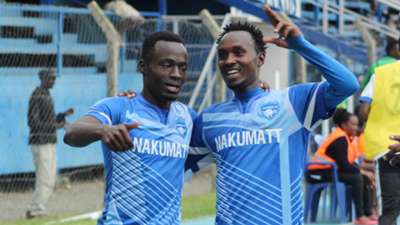 Nakumat celebration v Tusker.